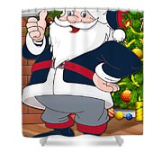 Patriots Santa Claus Shower Curtain