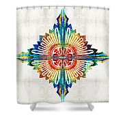 Pattern Art - Color Fusion Design 1 By Sharon Cummings Shower Curtain