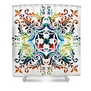 Pattern Art - Color Fusion Design 7 By Sharon Cummings Shower Curtain
