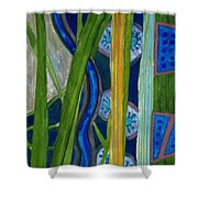 Pattern Out Of Grass And Stems And More  Shower Curtain