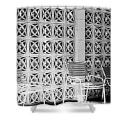 Pattern Recognition Palm Springs Shower Curtain