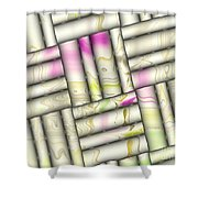Pattern Tiles Abstract Shower Curtain