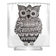 Patterned Owl Shower Curtain