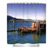 Patterson Bridge Oregon Shower Curtain