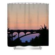 Patterson Bridge Sunrise Shower Curtain