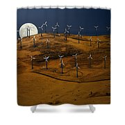 Patterson Pass Wind Farm Shower Curtain