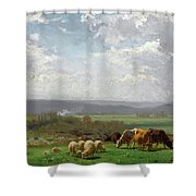 Paturage En Auvergne Shower Curtain