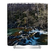 Patuxent River Trout Fisher Shower Curtain
