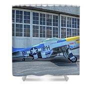 Paul 1 P-51d Mustang Shower Curtain