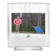 Paul Bunyan And Babe Shower Curtain