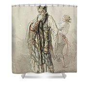 Paul Gavarni French, 1804-1866 Actors Shower Curtain