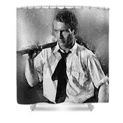 Paul Newman By John Springfield Shower Curtain