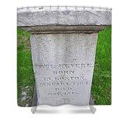 Paul Revere Grave  Shower Curtain