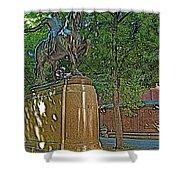 Paul Revere Rides In Boston-massachusetts  Shower Curtain
