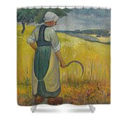 Paul Serusier 1864 - 1927 Breton Young To Sickle Shower Curtain