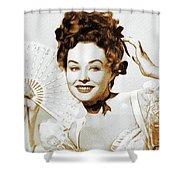Paulette Goddard, Hollywood Legend Shower Curtain