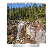 Paulina Creek Falls From The Top Shower Curtain