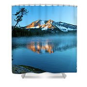 Paulina Peak In Paulina Lake Shower Curtain
