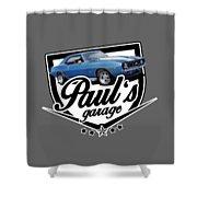 Pauls Garage Camaro Shower Curtain