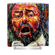 Pavarotti Shower Curtain