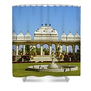 Pavilion And Fountain, Udaipur, India Shower Curtain