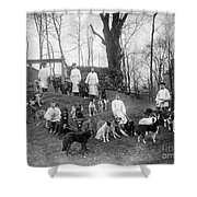 Pavlovs Dogs With Their Keepers, 1904 Shower Curtain