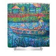 Pawleys Island Fisherman Shower Curtain
