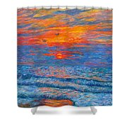 Pawleys Island Sunrise In The Sand Shower Curtain