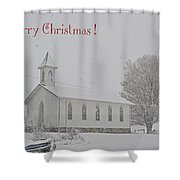 Pawpaw Church Christmas Shower Curtain