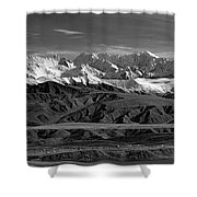 Paxson Lake Pano Shower Curtain