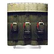 Pay Phones In Alley, Venice Shower Curtain