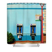 Pay Phones Shower Curtain