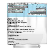 Payan Pool Service Infographics Shower Curtain
