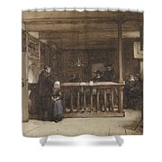 Payday, The Ships Room Right House Nieuw-loosdrecht, Furnished With Seventeenth-century Figures, Joh Shower Curtain