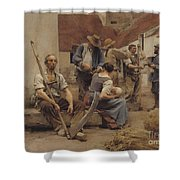 Paying The Harvesters Shower Curtain