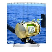 Payment To The Fish Gods Shower Curtain