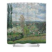 Paysage D'ile De France By Armand Guillaumin Shower Curtain