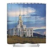 Payson Temple At Dusk Shower Curtain