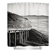 Pch Scenic In Black And White Shower Curtain