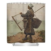Pcheuse Bretonne Shower Curtain