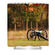Pea Ridge Shower Curtain by Lana Trussell