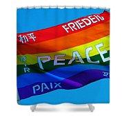 Peace - Paz - Paix Shower Curtain