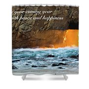 Peace And Happiness Shower Curtain