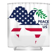 Peace Be With Us Shower Curtain