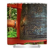 Peace Bell Shower Curtain
