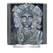 Peace Buddha Shower Curtain