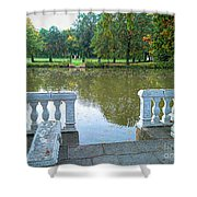 Peace By The Lake Shower Curtain