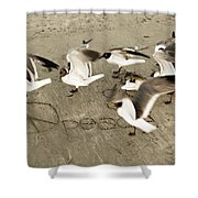 Peace Dance Shower Curtain
