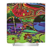 Peace Art Shower Curtain by Eleni Mac Synodinos