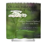 Peace, Francis Of Assisi Shower Curtain